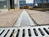 Решётка на канал чугунная щелевая, длина 500мм, высота 14мм, ширина 136мм , фото 2