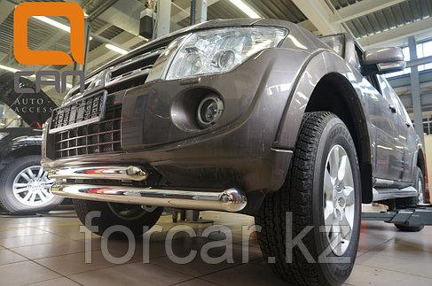 Защита переднего бампера Mitsubishi Pajero IV (2011-) (двойная) d 76/60, фото 2