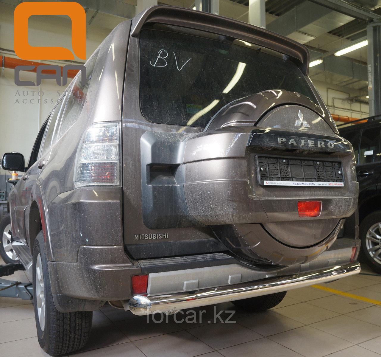 Защита заднего бампера Mitsubishi Pajero IV (2011-) (одинарная) d 76