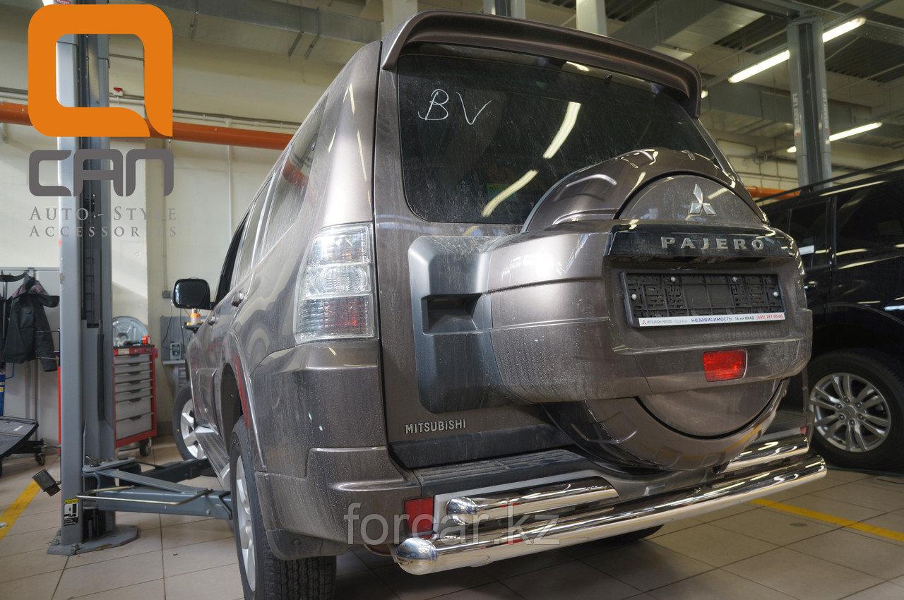 Защита заднего бампера Mitsubishi Pajero IV (2011-) (двойная) d 76/60