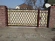 Ворота из чёрного металла