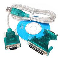 Кабель Переходник USB to COM с переходником RS232 9pin->25pin