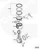 Кольцо стопорное поршневого пальца Cummins QSL9 ISC QSC8.3 3920692 3901996 3901922, фото 2