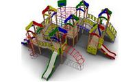 Детский игровой комплекс для улицы  Размеры 10110х9750х3900мм