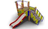 Детский Игровой комплекс для улицы Размеры 4145х3435х2330мм
