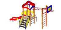 Детский игровой комплекс уличный  Размеры 5610х2535х3350мм