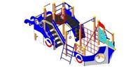 Детский Игровой комплекс для улицы Размеры 7980х3390х2705мм