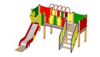 Детский Игровой комплекс для улицы Размеры 3535х2910х2080мм
