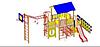Детский Игровой комплекс для улицы Размеры 8550х4575х3590мм
