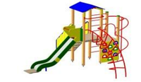 Детский Игровой комплекс для улицы Размеры 5240х4675х3320мм