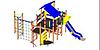 Детский Игровой комплекс для улицы Размеры 6290х4535х3310мм