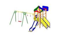 Детский Игровой комплекс для улицы Размеры 6200х5300х3750мм