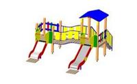 Детский Игровой комплекс для улицы Размеры 3600х4100х2800мм