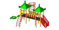 Детский Игровой комплекс для улицы Размеры 6480х5700х4015мм