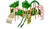 Детский Игровой комплекс для улицы Размеры 6775х5030х4230мм