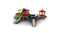 Детский Игровой комплекс для улицы Размеры 10080х6905х3935мм