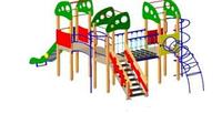 Детский Игровой комплекс для улицы Размеры 4830х7530х3910мм