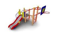 Детский Игровой комплекс для улицы Размеры 3965х2835х2500мм