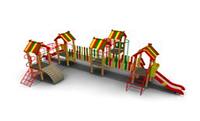 Детский Игровой комплекс для улицы Размеры 10215х6745х2875мм
