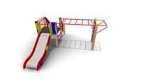 Детский Игровой комплекс для улицы Размеры 3190х3745х1670мм