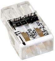 Клемма WAGO 2273–242 компактная 2-проводная сечением 2.5 мм, с пастой, набор 100 шт