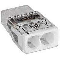 Клемма WAGO 2273–202 компактная 2-проводная сечением 2.5 мм, без пасты, набор 100 шт