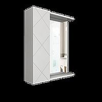 Шкаф навесной Техно 500 мм зеркало, 1 дверь