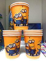 """Бумажные стаканы для дня рождения """" Миньоны"""""""