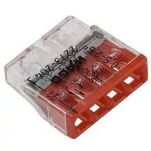 Клемма WAGO 2273-204 компактная 4-проводная сечением 2.5 мм, без пастой, набор 100 шт