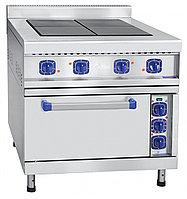 Плита эл. 4-х конфор.ЭПК-48ЖШ-К-2/1 духовка GN 2/1, конвекция, пароувлажнение, вся нерж.