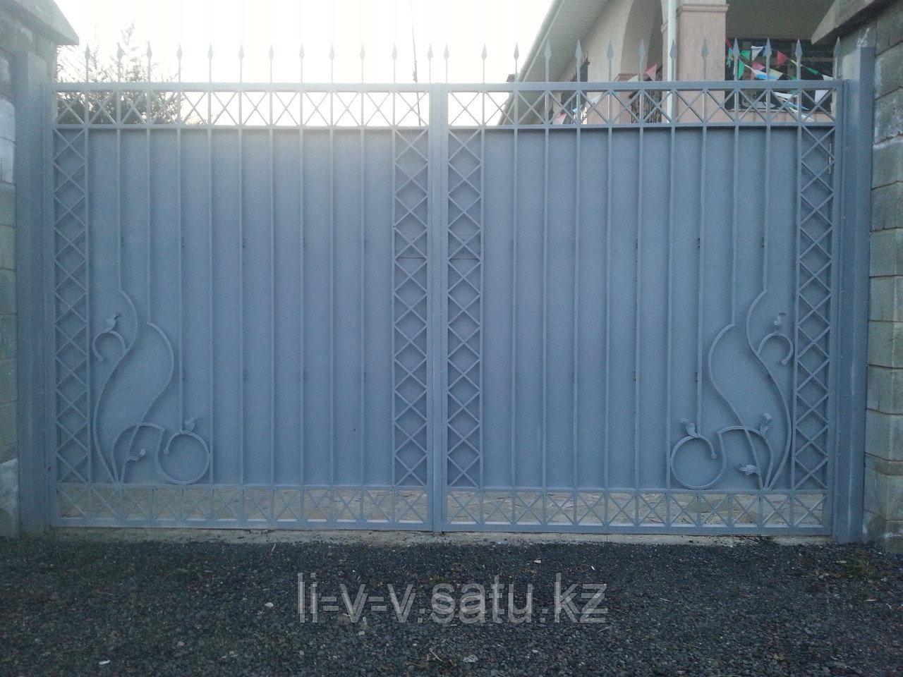 Ворота уличные из металла