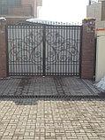 Уличные кованые ворота, фото 3
