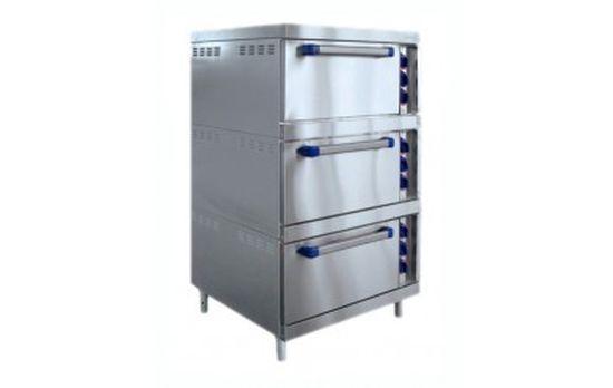 Шкаф жарочный ШЖЭ-3-К-2/1 духов.GN 2/1,конвекция, пароувлажн. /вся нерж./