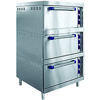 Шкаф жарочный ШЖЭ-3-01 нерж. духовка, подставка 840x897x1475 мм., /лицев. нерж/