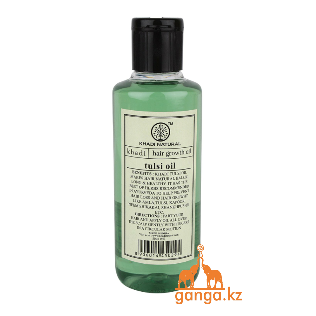 Масло для волос Тулси (Herbal Growth Oil Tulsi KHADI), 210 мл