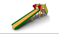 Детская уличная Горка зимняя Размеры: 6000х1000х2350мм