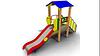 Детская уличная Горка Теремок Размеры: 3820 х 1060 х 2620мм