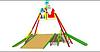 Детская уличная Горка зимняя Гуляй зима Размеры: 10925 x 8720 x 5985 мм