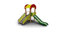 Детская уличная Горка с крышей Размеры: 3255х2540х3700мм