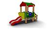 Детская уличная Горка с крышей Размеры: 2635х1000х2600мм