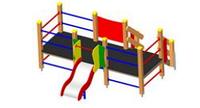 Детская уличная Детский игровой комплекс Размеры: 2980 x 3100 x 16300мм