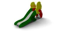 Детская уличная Горка Динозаврик Размеры: 3000х585х2340мм