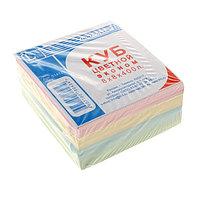 Бумага для заметок, 8х8х400л, цветная