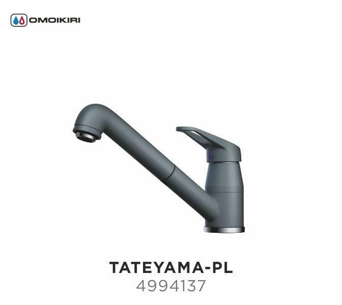 Смеситель OMOIKIRI TATEYAMA- PL (4994137), ПЛАТИНА/ХРОМ