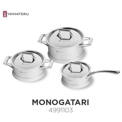 Набор посуды YAMATERU, 6 предметов, нержавеющая сталь, серия MONOGATARI
