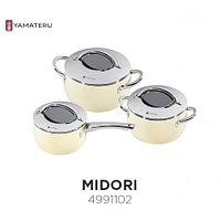 Набор кастрюль YAMATERU, 6 предметов, нержавеющая сталь, серия MIDORI