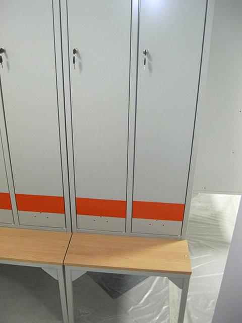 Шкафы для раздевалок LS-21, скамьи-подставки под LS-21.ПРАКТИК -1