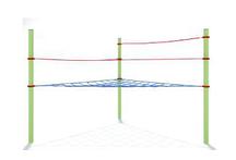 Сетка треугольная горизонтальная