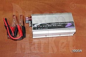Инвертор 12В на 220В, 1000 Вт, защита от перегрузки, питание от аккумулятора