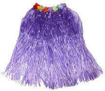 Юбка гавайская фиолетовая с цветами 40 см
